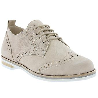 CAPRICE Brogue shoes ladies leather shoes beige 9-23201-28-408