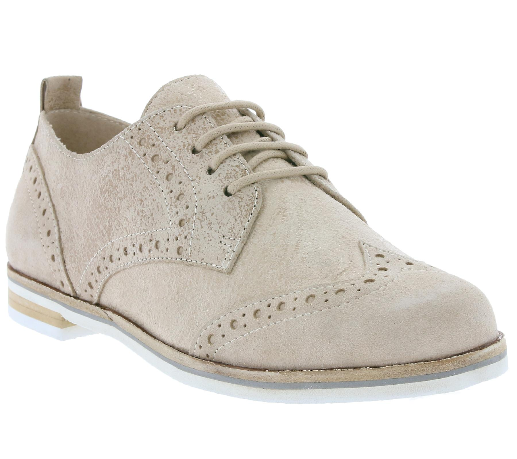 CAPRICE Brogue ladies genuine shoes leather shoes genuine beige f27138