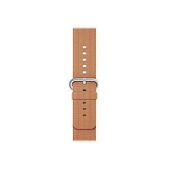Apple 38 mm geweven Nylon riemen-Klockrem-goud/rood-Watch (38 mm)