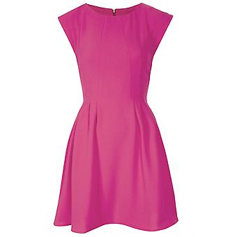 Topshop Pink Regular Crepe Seam Flippy Dress