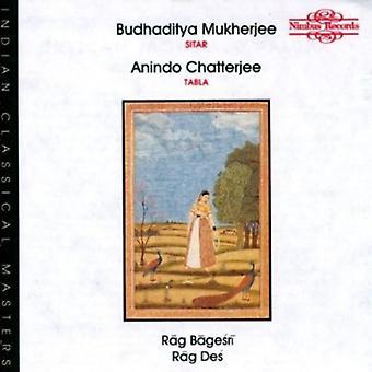 Budhaditya Mukherjee - Rag Bagesri/Rag Des [CD] USA import