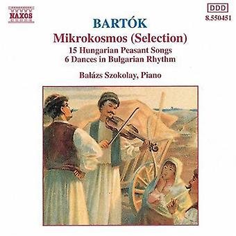 B. Bartok - Bart K: Mikrokosmos (Auswahl); 15 ungarische Bauer Songs; 6 Tänze in bulgarischen Rhythmus [CD] USA importieren