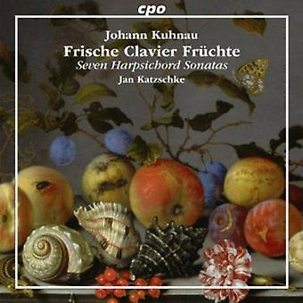 J. Kuhnau - Johann Kuhnau: Frische Clavier Fr Chte: Seven Harpsichord Sonatas [CD] USA import