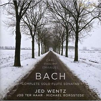 J.P.E. Bach - C.P.E. Bach: Sonates pour flûte de Solo complet [CD] USA import