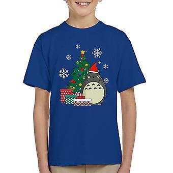 تي شيرت شجرة عيد الميلاد Totoro استوديو جيبلي كيد