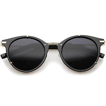 Retro mode P-3 Metal tempel Classic Horn kantede runde solbriller