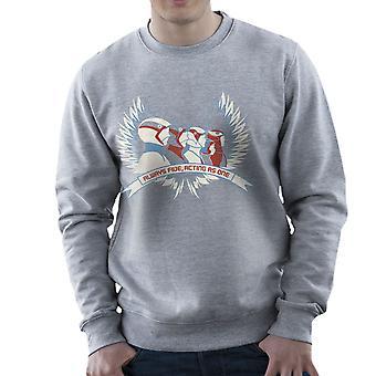 Always Five Acting As One Battle Of The Planets Science Ninja Team Gatchaman Men's Sweatshirt