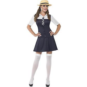 Kvinnor kostymer skolflickor nörd klä