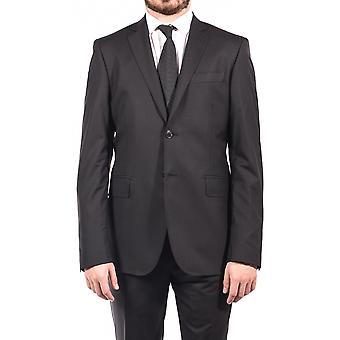 Pierre Balmain Wool Two Button Suit Charcoal Black