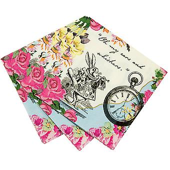 Truly Alice Dainty Napkins x 20 Alice in Wonderland Mad Hatters