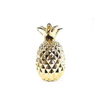 22x40CM gyldne ananas RESTAURANT BOLIGMONTERING ORNAMENT