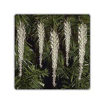 SALE - 10 Bead Icicle Tree Decorations - Christmas Craft Kit