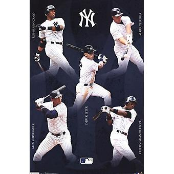 Yankees - Collage 12 Poster Poster Print