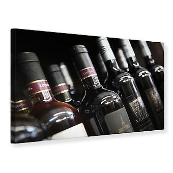 Lærred Udskriv flaske vin