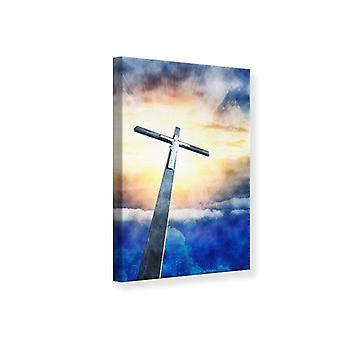 Canvas afdruk van Jezus aan het Kruis