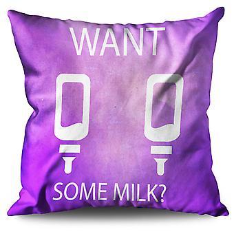 Vuoi latte mamma scherzo divertente cuscino in lino vuoi latte mamma divertente di scherzo | Wellcoda