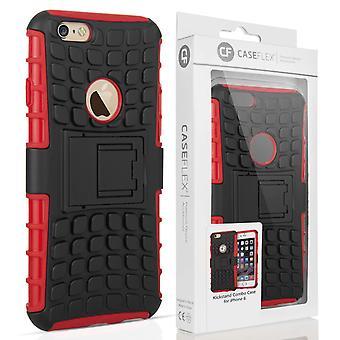 Caseflex iPhone 6s støtteben Combo sag - rød