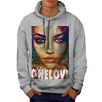Aime fille visage Fashion Men GreyHoodie | Wellcoda
