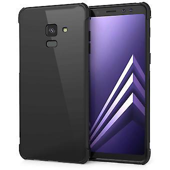 A8 de Samsung Galaxy Plus (2018) Alfa Gel de TPU - negro