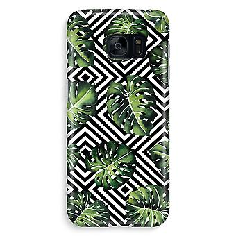 Samsung S7 Edge Full Print Case - Geometric jungle