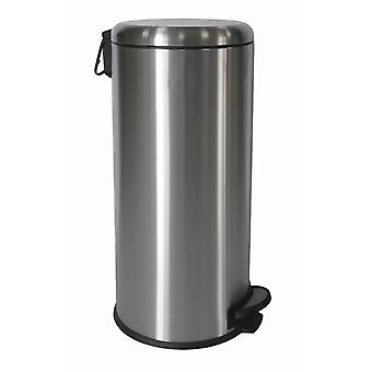 Brights 30L Stainless Steel Satin Finished Pedal Bin With Domed Shape Lid