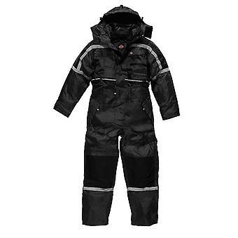 Dickies Mens Workwear Waterproof Padded Coverall Black WP15000B