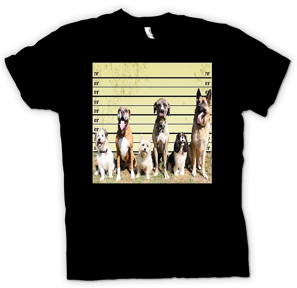 Womens T-shirt - Pet Dog Police Line Up