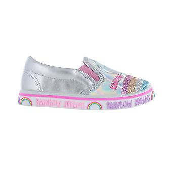 Girls Multi Coloured Fashion Rainbow Dreams Trainers Sport Shoe Various Sizes