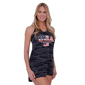 Frauen USA Flagge Burnout Tank Dress Bademode Vertuschung