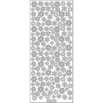 Snowflakes Small Peel-Off Stickers-Silver