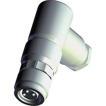 TE Connectivity 1-2120957-1 Sensor/actuator connector M8 Socket, right angle No. of pins (RJ): 4 1 pc(s)
