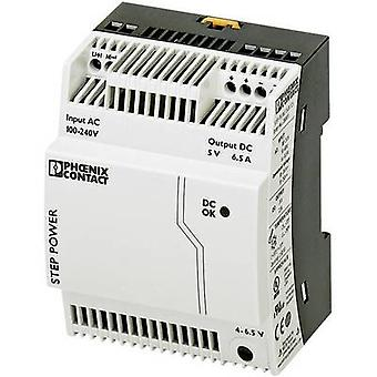 Phoenix Contact STEP-PS/1AC/5DC/6.5 Rail mounted PSU (DIN) 5 Vdc 6.5 A 32.5 W 1 x