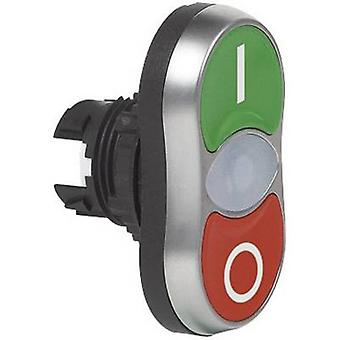 Double head pushbutton Front ring (PVC), chrome-plated Green, Red BACO L61QH21 1 pc(s)