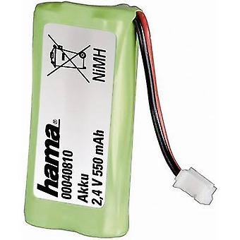Hama 40810 40810 Cordless phone batteries Suitable for brands: Siemens, Gigaset, Universum NiMH 2.4 V 550 mAh