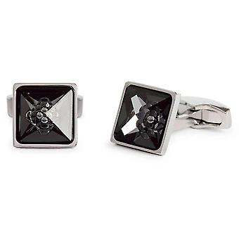 Simon Carter Crystal Bubble Cufflinks - Black/Silver