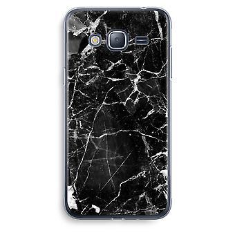 Samsung Galaxy J3 2016 caso transparente (Soft) - mármore preto 2