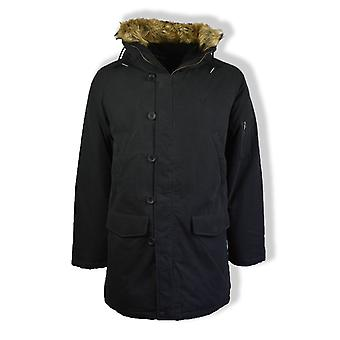 Fred Perry Down Snorkel Parka Jacket (Black)