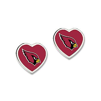 Wincraft ladies 3D heart Stud Earrings - NFL Arizona Cardinals