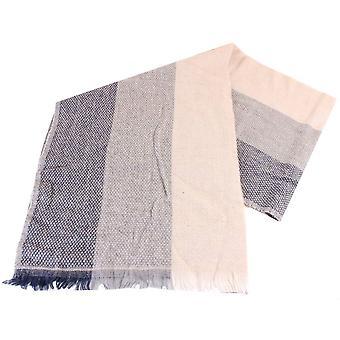 Bassin und braune Magnolia drei Dot Streifen Schal - Beige/grau