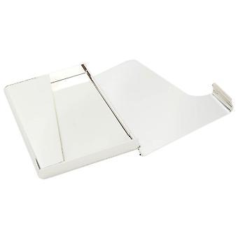 KJ Beckett pianura / curvo argento placcato Business Card Holder