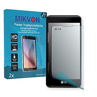 LG X style Screen Protector - Mikvon Armor Screen Protector (Retail Package with accessories)