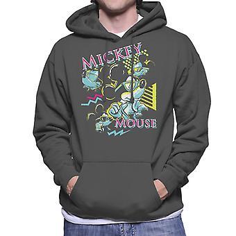 Disney Mickey Mouse Band 80s Vice Men's Hooded Sweatshirt