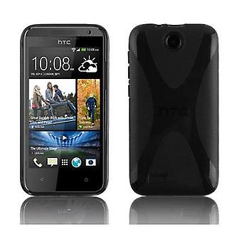 Cadorabo case for HTC desire 300 - cell phone cover from flexible TPU silicone X-line design - silicone case cover soft back cover case bumper