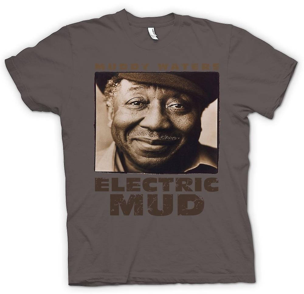 Womens T-shirt - Muddy Waters Electric Mud Blues - Guitar - Icon