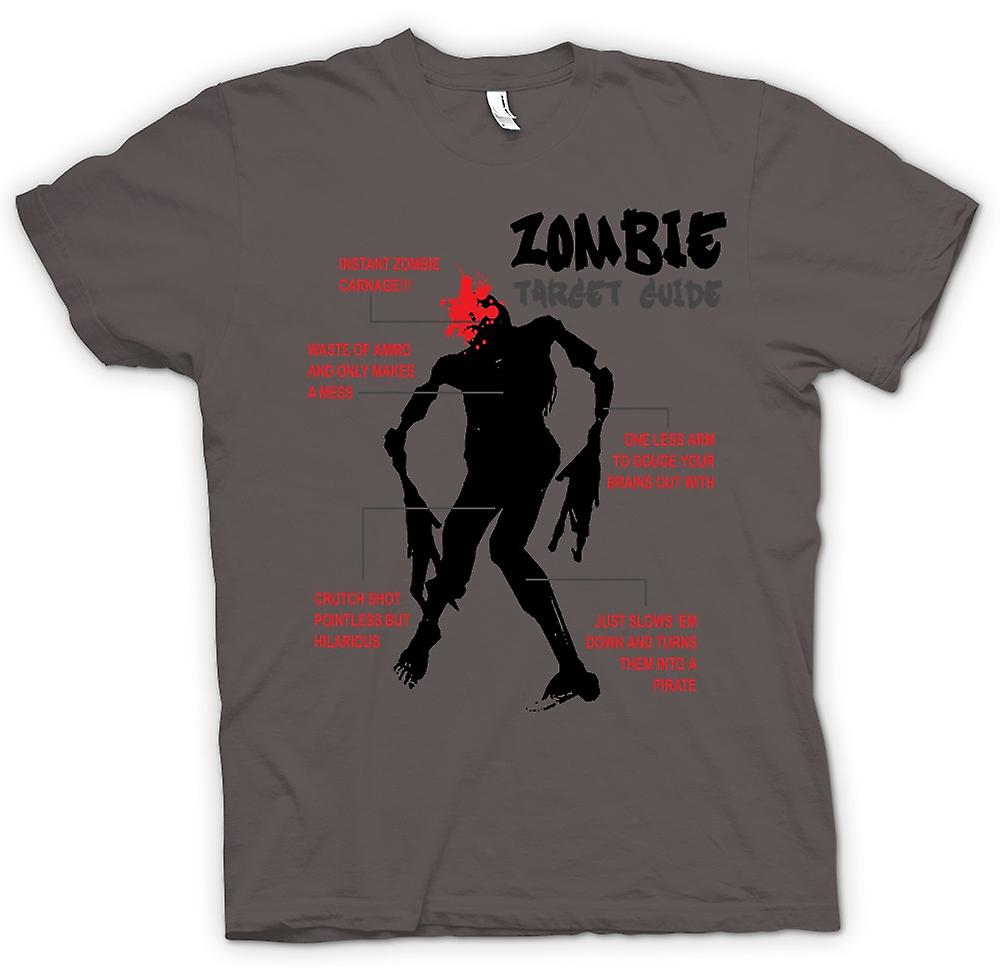 Womens T-shirt - Zombie Target Guide - lustig