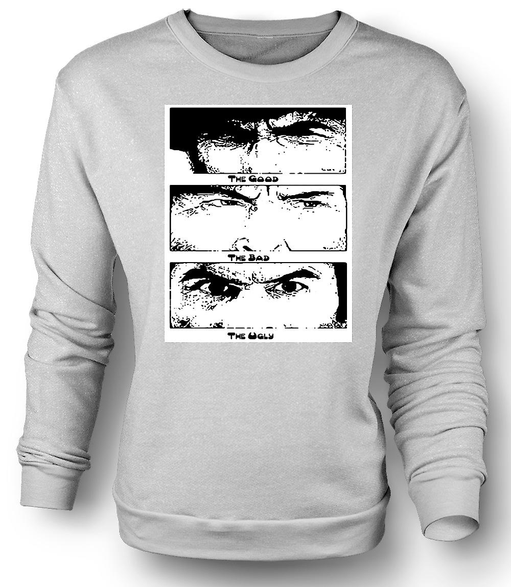 Mens Sweatshirt Good Bad and the Ugly - BW