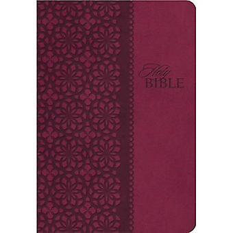 KJV studie Bijbel 2e ED lederachtige Maroon (handtekening)