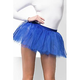 Womens Blue Tutu Underskirt  Fancy Dress Accessory