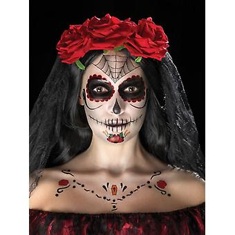 Day of the Dead Face Tattoo Transfers Kit (One Size)