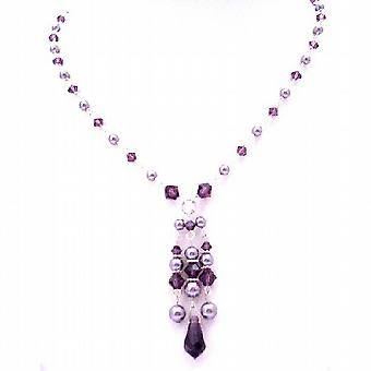 Swarovski samling Valentine gåva Feburary kristall färg smycken ametist kristaller  halsband dadeae93ad809
